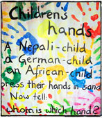 Children's hands
